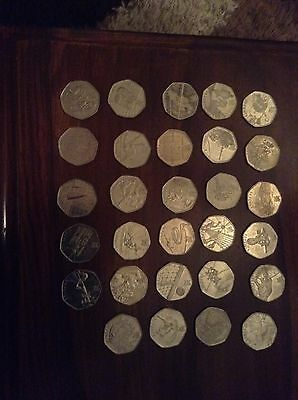 full set olympic 50p coins