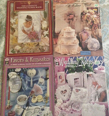 "Set of four Creative Wedding Books ""Ideas & Instructions"""