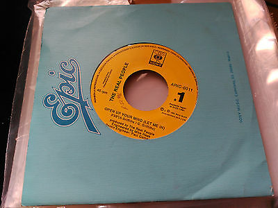 Promo Single Sided The Real People - Open Up Your Mind (Let Me In) - Cbs Spain