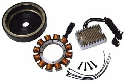For Harley complete 32 amp Alternator charging kit 70-99 Shovelhead EVO Big Twin