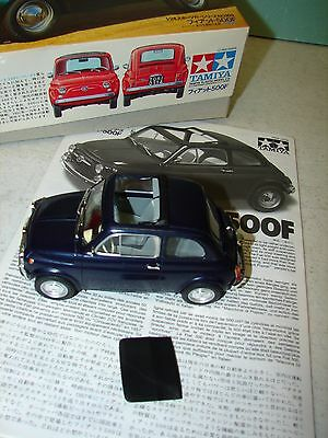 Tamiya FIAT 500F model car - 1/24 scale - Assembled w/box and papers.