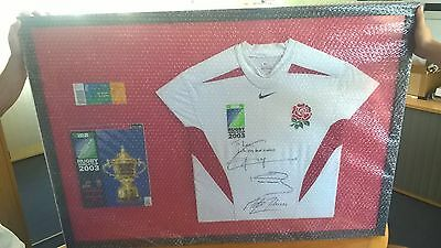 Rugby World Cup 2003 England Signed Jersey And Final Programme And Ticket