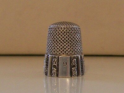 Nice Vintage Sterling Silver Thimble by Maker (Ketcham & McDougall)
