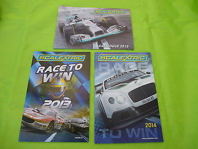 Scalextric *NEW* 3x Mini Catalogues  2013, 2014 and 2015   #4