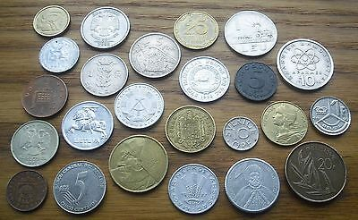 Lot of 24 Coins mix, 1957 - 2012.