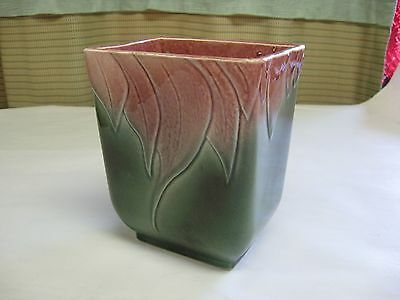"Hull USA Pottery 6"" Leaf Pattern Planter or Vase #116"