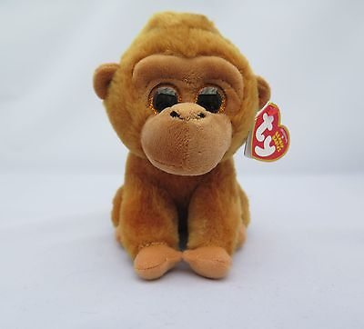 "New Ty Beanie Babies Monroe The Monkey 6"" With Tags"