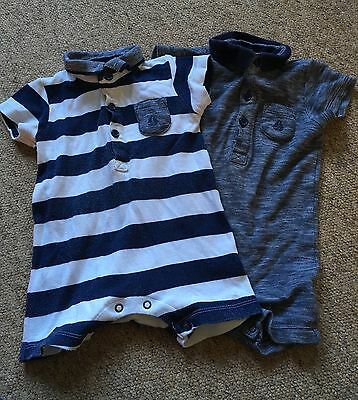 Baby Boy Shortie Rompers/ Play suits 6-9 Months