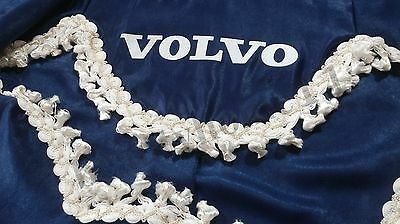 Set Of 3 Blue Curtains With White Tassels  And Logo For VOLVO ALL SERIES