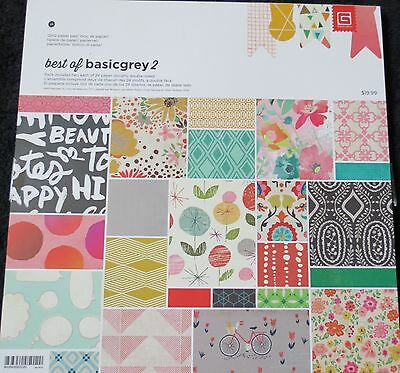 """Best of Basic Grey 2  12""""x12"""" Double Sided Cardstock Paper Pack by Basic Grey"""