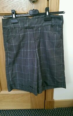 Girls grey checked short trousers age 12-14 years by VILA BNWT
