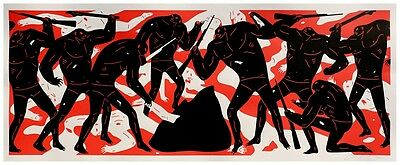 Sérigraphie Cleon Peterson - Burning the Dead (Red)