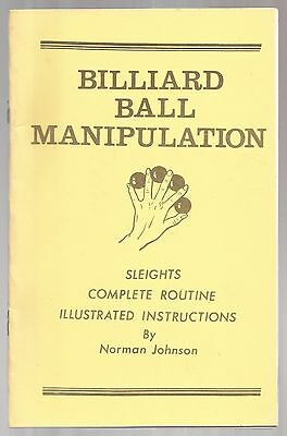 BILLIARD BALL MANIPULATION by Norman Johnson 1984