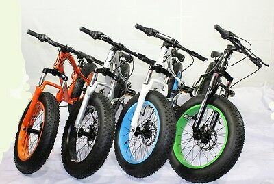 """Fat Bike JHI Mustang Extreme 20"""" X 4"""" wheels Bicycle with 7 Shimano Gears"""