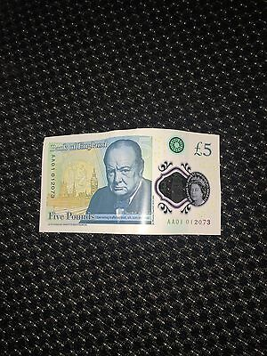 New £5 Note With AA01 Serial Number