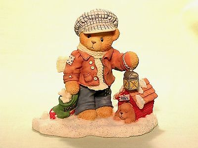 "Cherished Teddies Rich ""always Paws For Holiday Treats"" Enesco New"