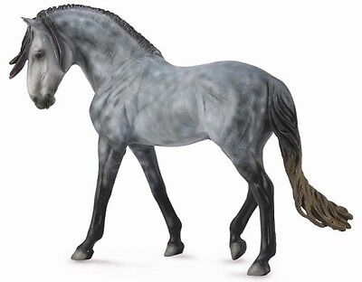 Collecta Large 1:12 Scale Model Horse - Andalusian Stallion Dark Dapple Grey