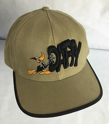 Daffy Duck Hat Vintage Warner Bros Store Snapback Cap Embroidered Looney Tunes