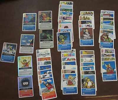 lot of 53 Disney Club Penguin card-jitsu cards