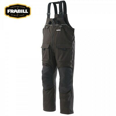 Frabill I2 Series Ice Fishing Bib Choose Size S M L XL 2XL 3XL Bibs Color Black