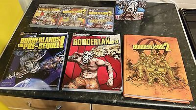 Borderlands  1 and 2  game of the year editions plus strategy guides