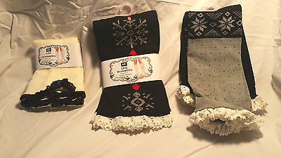 Boot Cuffs/Leg Warmers - Set of 3 ruffled NEW! 2 with tags!