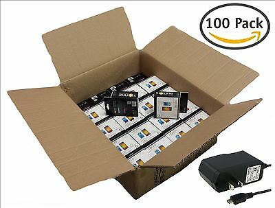 100x pieces Home Wall Travel Micro USB Charger bulk lot Retail Packaged