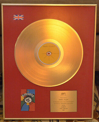Erasure Gold Record BPI Award for The Circus presented to Daniel Miller
