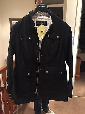 Womens Barbour Navy Stirrup Wax Jacket - New with tags size 14