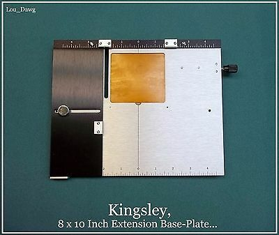 Kingsley Machine ( 8 x 10 Inch Extension Base-Plate ) Hot Foil Stamping Machine