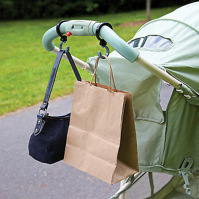 Diono 2 BUGGY HOOKS/HANGERS Pushchair/Stroller/Pram Travel Accessory