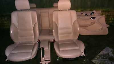 BMW 3 SERIES E46 320i SALOON COMPLETE LEATHER INTERIOR