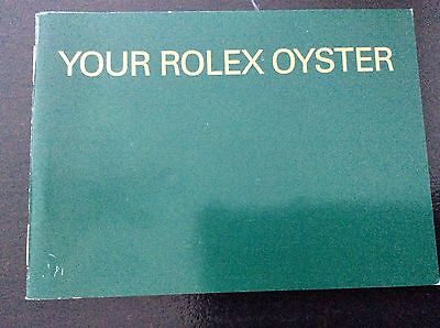 Your Rolex Oyster Watch Manual 7.2000