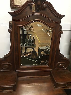 French Vintage Dressing Table Mirror with Drawers