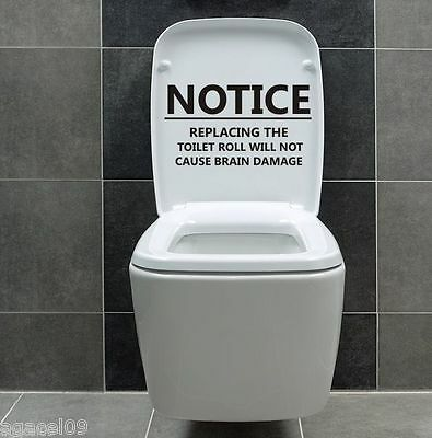 Notice ...toilet Wall Sticker Bathroom Cool Quote Decal Vinyl Graphic Decor