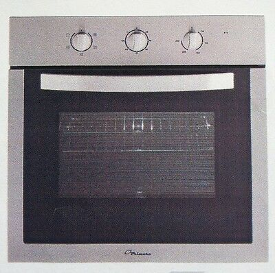 New Euro Primera Stainless Steel Fan Forced Built In Electric Wall Oven 60cm