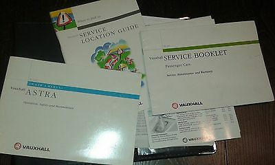 Vauxhall Astra Owners Handbook..Service Book ..Audio Guide + Folder. Dated 1999
