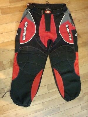 Empire Paintball Padded Combat Pants Red/black Size Adult Large 34-38
