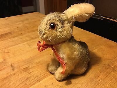 Antique Vintage Miniature Steiff Bunny Rabbit Pre-Loved Condition No Id Darling!