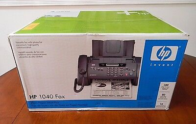 Hp 1040 Inkjet Fax Machine W/built-in Telephone Handset Print Scan & Send Faxes