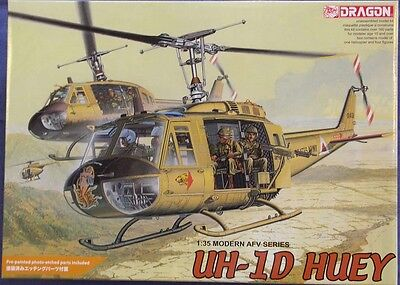 Dragon 1/35 Bell UH-1D Huey US Army Helicopter W/Etch Kit #3538 Sealed Inside