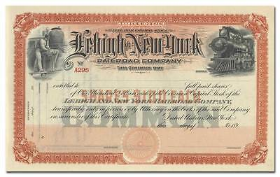 Lehigh and New York Railroad Company Stock Certificate