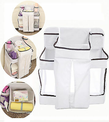 Playard Nursery Baby Bed Storage Organizer Caddy Toy Diaper Clothes Hanging Bag