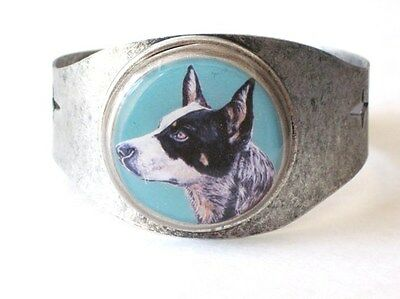 Australian Cattle Dog original art cuff bracelet