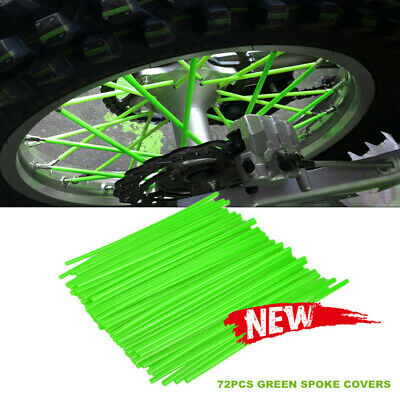 72Pcs Green Spoke Wrap Kit Mini Bike Pee Wee Spokes Skinz Skins Wraps Covers