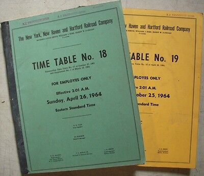 1964 – New Haven Railroad Employee Timetables 18 & 19
