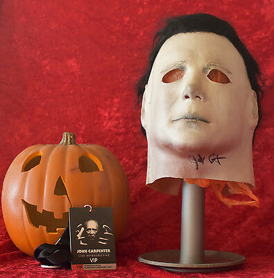 Nag 75K H1 Michael Myers Mask Signed by John Carpenter, VIP Lanyard included.