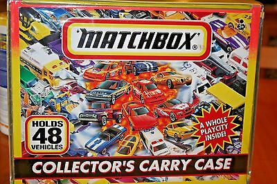 1997 Matchbox 48 Vehicle Carry Case/4Trays Inside and City Playscene/Poster fold
