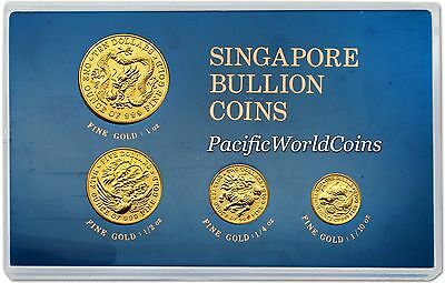 Singapore 1983 4 coin Gold BU Set