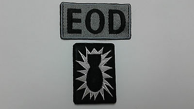 1+1 pc Explosive Ordnance Disposal (EOD) Unit emb patches, hook back